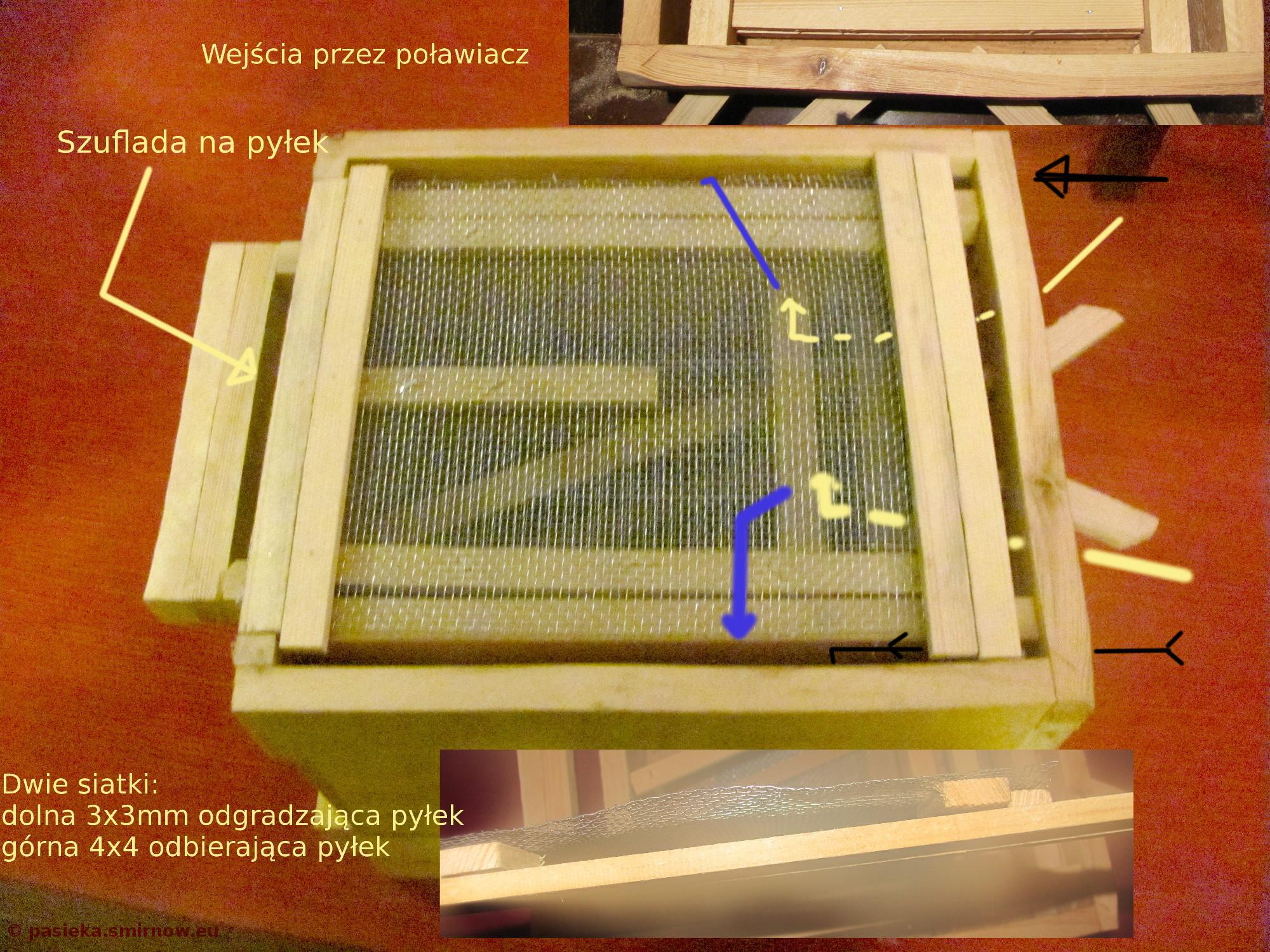 Powałkowy poławiacz pyłku