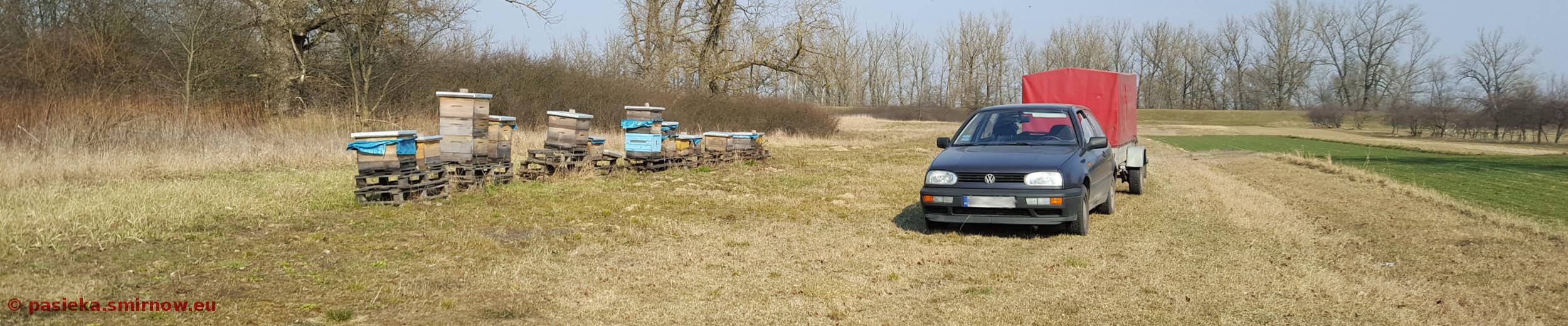 POD - widok z autem